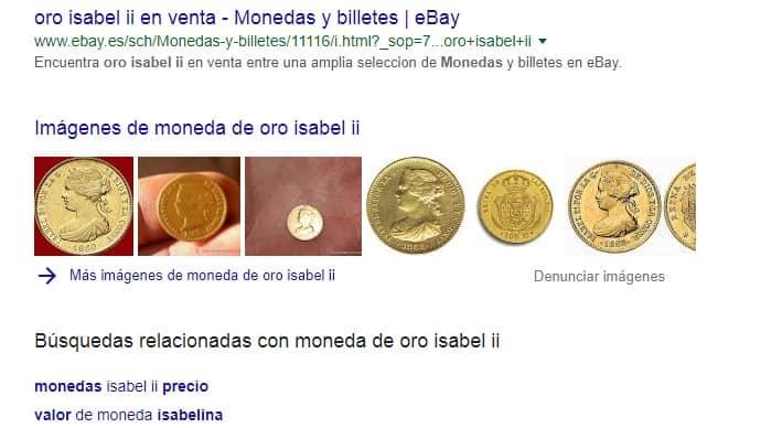 Ejemplo de monedas de oro relacionadas con las numismaticas y el coleccionismo